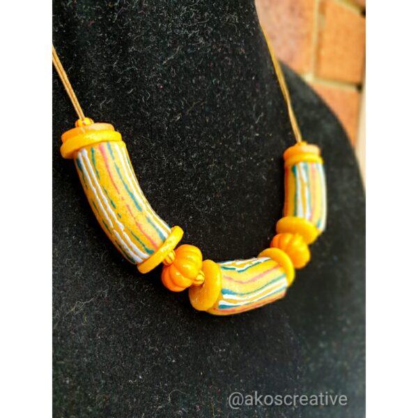 Krobo beads necklace