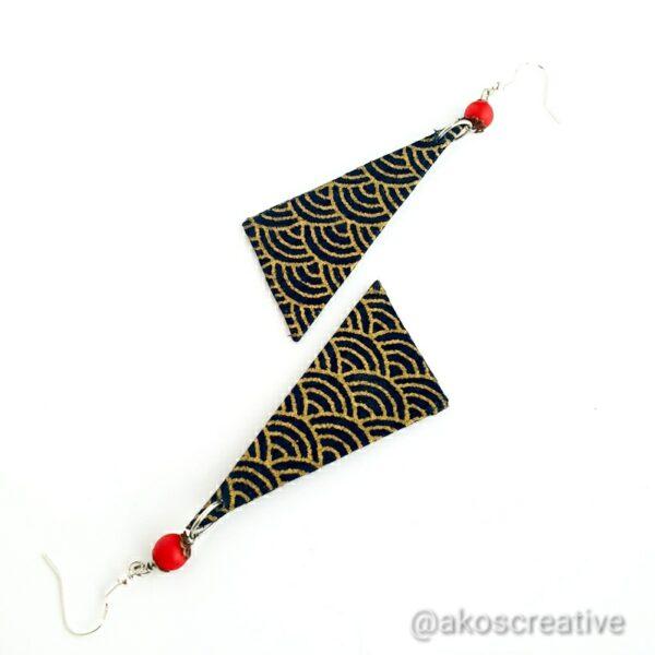 Fabric drop earrings