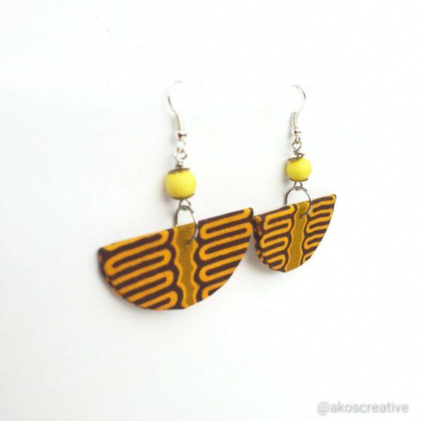 Fabric earrings, Colourful Orange