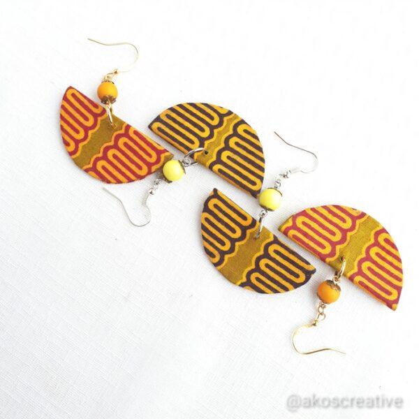 Fabric earrings, Colurful