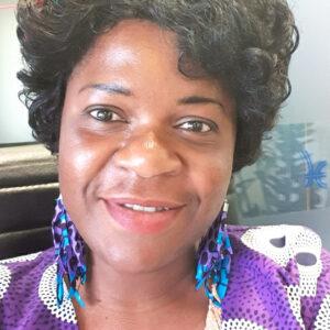 Akos African Fabric Tassels earrings