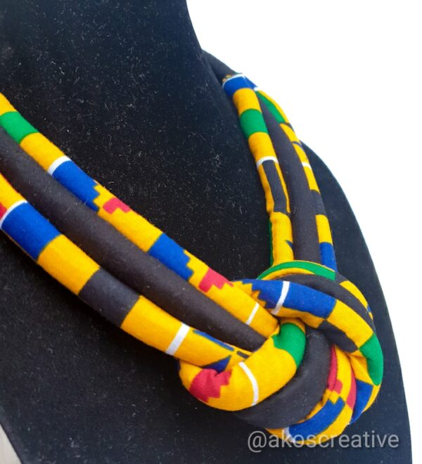 Fabric Rope Necklace Colorful