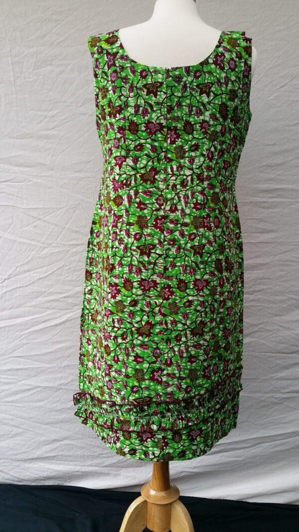 Ladies Party Dress Cotton, Summer Dress Green