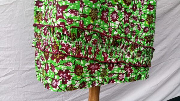 Ladies Party Dress Cotton, Summer Dress Green Sleeveless