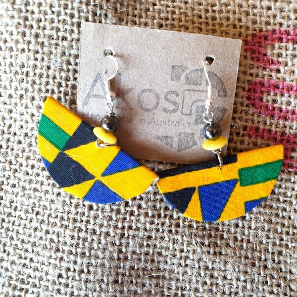 Fabric earrings Kente