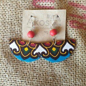 Fabric earring geometric