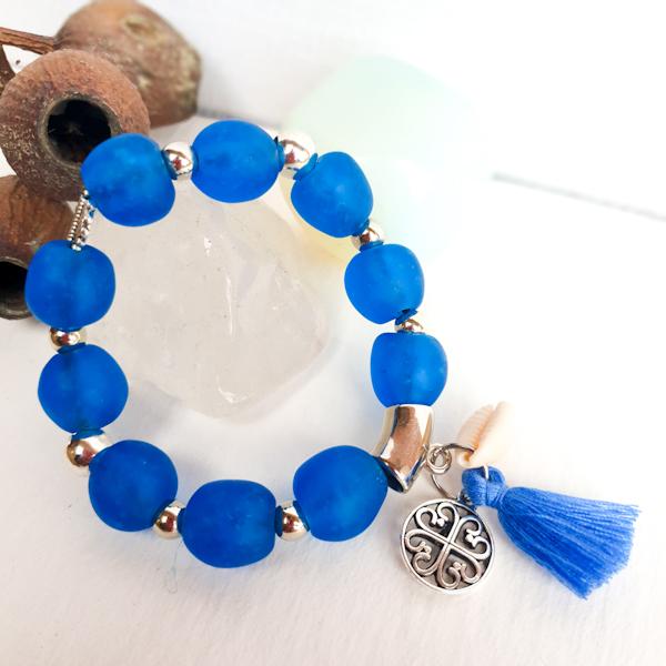 Translucent recycled Glass beads, Krobo beads