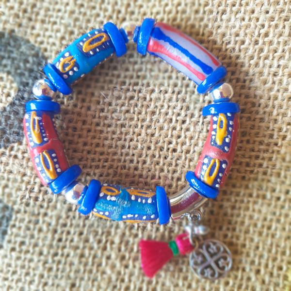 Colourful Krobo beads unisex