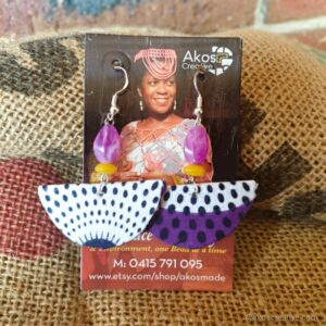 Hapf moon fabric earrings