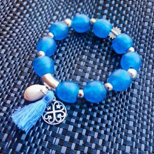 Blue Krobo beads