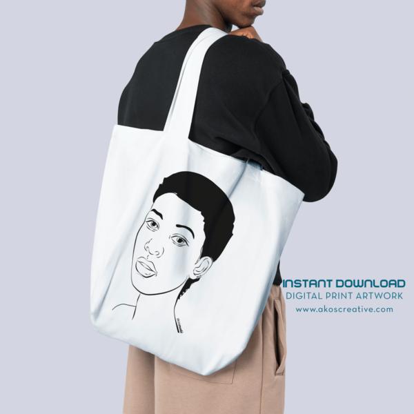 Contemporary Female African American Digital Art