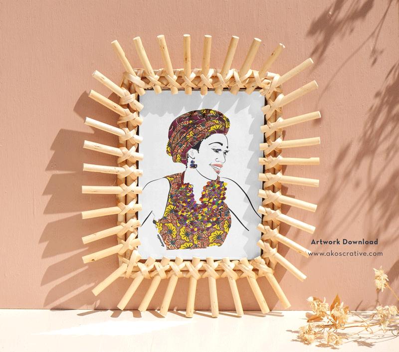 Contemporary Female African American Digital Art Print