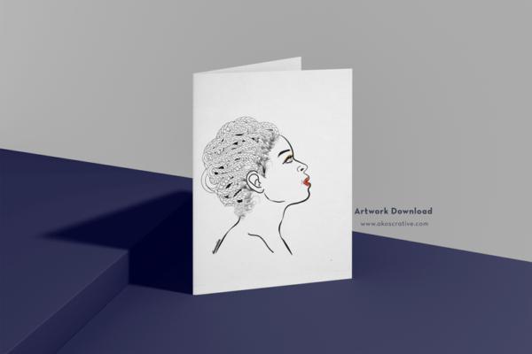 Contemporary Female African American Digital Art Print Downloads